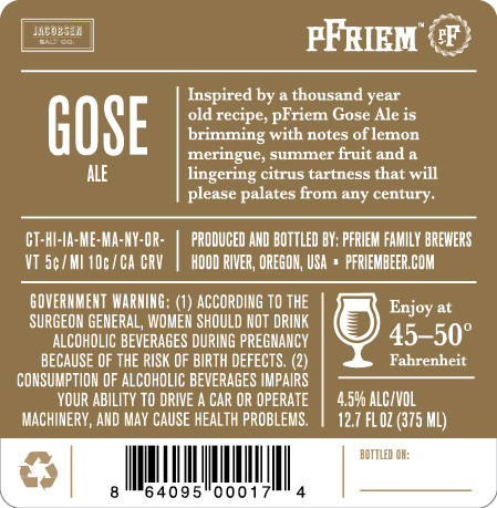 New Oregon and Washington Craft Beer Labels Submitted to TTB