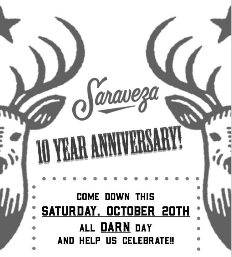 Saraveza Celebrates its 10th Anniversary On Saturday