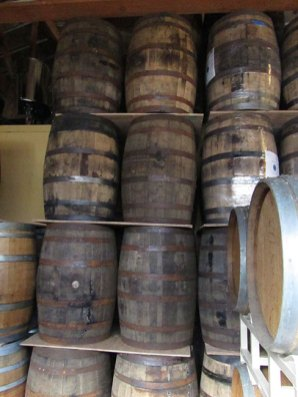 Fermenting barrels at Cascade Brewing.
