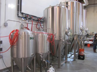 Fermenters at Ecliptic Brewing.