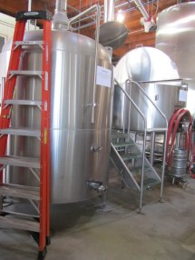 Kettle and Mash tun at Ecliptic Brewing.
