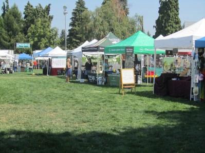 Vendor tents.