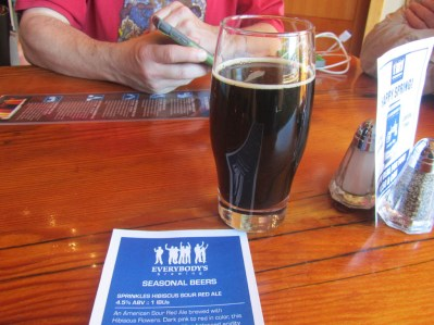 A nice stout and the list of Seasonal Beers.