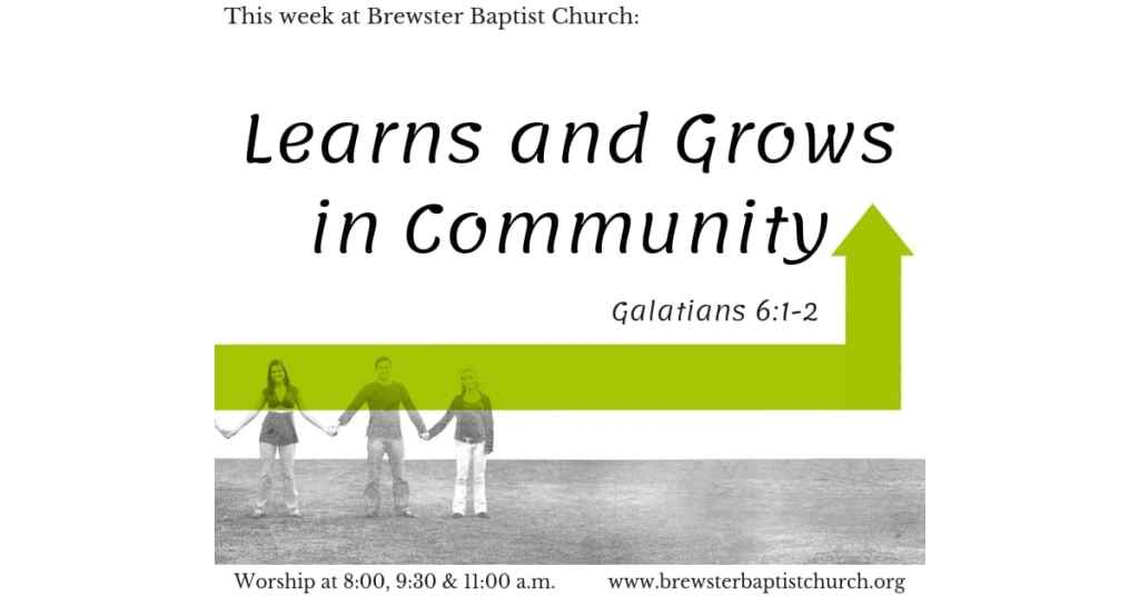 Text about learning and growing in community