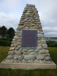 Monument at Fort Point Lighthouse