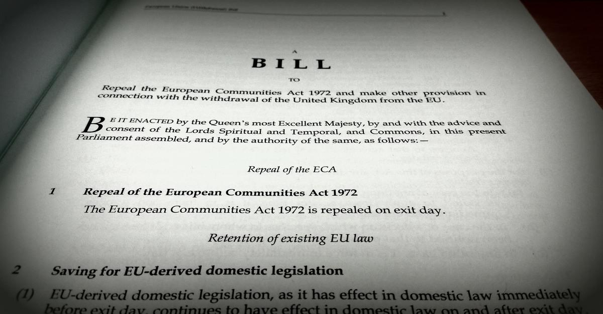 The EU Withdrawal Bill – procedural not political