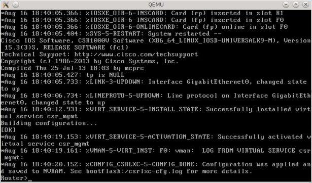 Cisco CSR 1000v Installation on Qemu Virtual Machine | Brezular's Blog