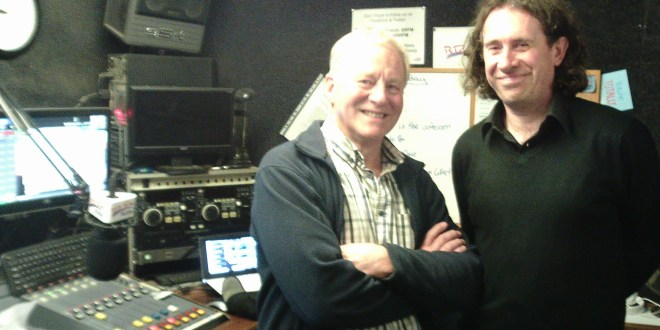 Steve Baggs Sustainability Projects Manager and John Stanford the Sheppey Community Energy Trust at BRFM Bridge Radio on the Daniel Monday night community show