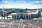 Razorback Stadium's north end zone as it appears in another rendering released by the university after expansion was approved in June 2016.