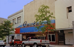 An abandoned and deteriorating Center Theater in 1994. The Center opened in the late 1940s and closed in 1977. During the 1950s, the Center was one of eight downtown theaters.
