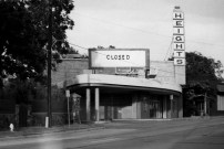 "The Heights Theater closed in September 1985. Its final film was ""The Last Picture Show."" The building has since been remodeled and now houses a bank, botique and restaurant."