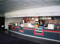 The Cinema 150's concession stands not long after the theater closed in May 2003.