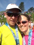 Completed Half Marathon together and Still Married