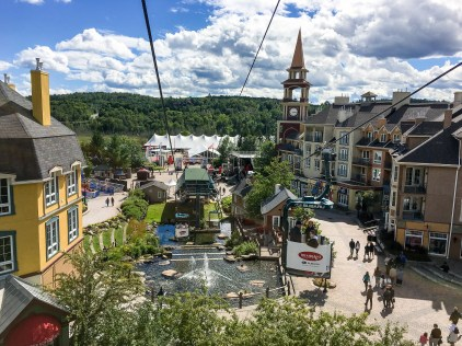 Ironman Mont-Tremblant 2016 - View from the pedestrian lift through the village. We rode bikes into the village the day after the race. Felt good to get some blood pumping through my legs again.