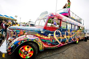 The present-day bus that Zane Kesey skippers
