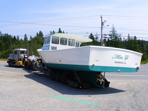 Miss G, an Osmond 40 built by H&H Marine of Steuben, ME. Jerry Brum of San Mateo, CA will fish Miss G for Dungeness crabs. (2014)