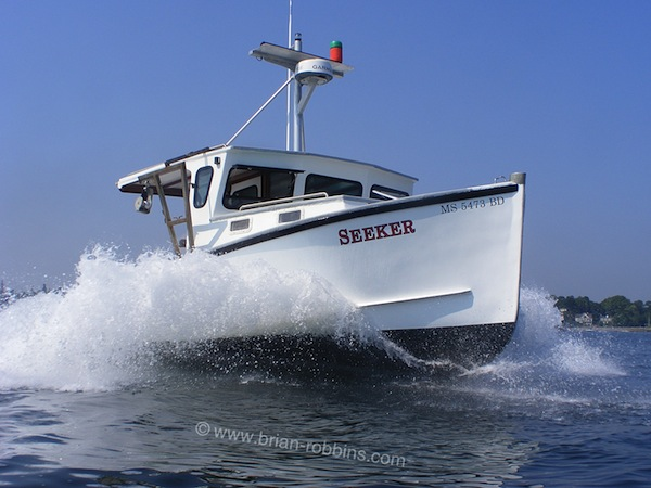 Seeker is a 37'x14' Stanley Greenwood, originally built in 1989. Lobsterman Matt Finn completely refurbished the 37-footer and put her to work tending gear out of Marblehead, MA. (2015)
