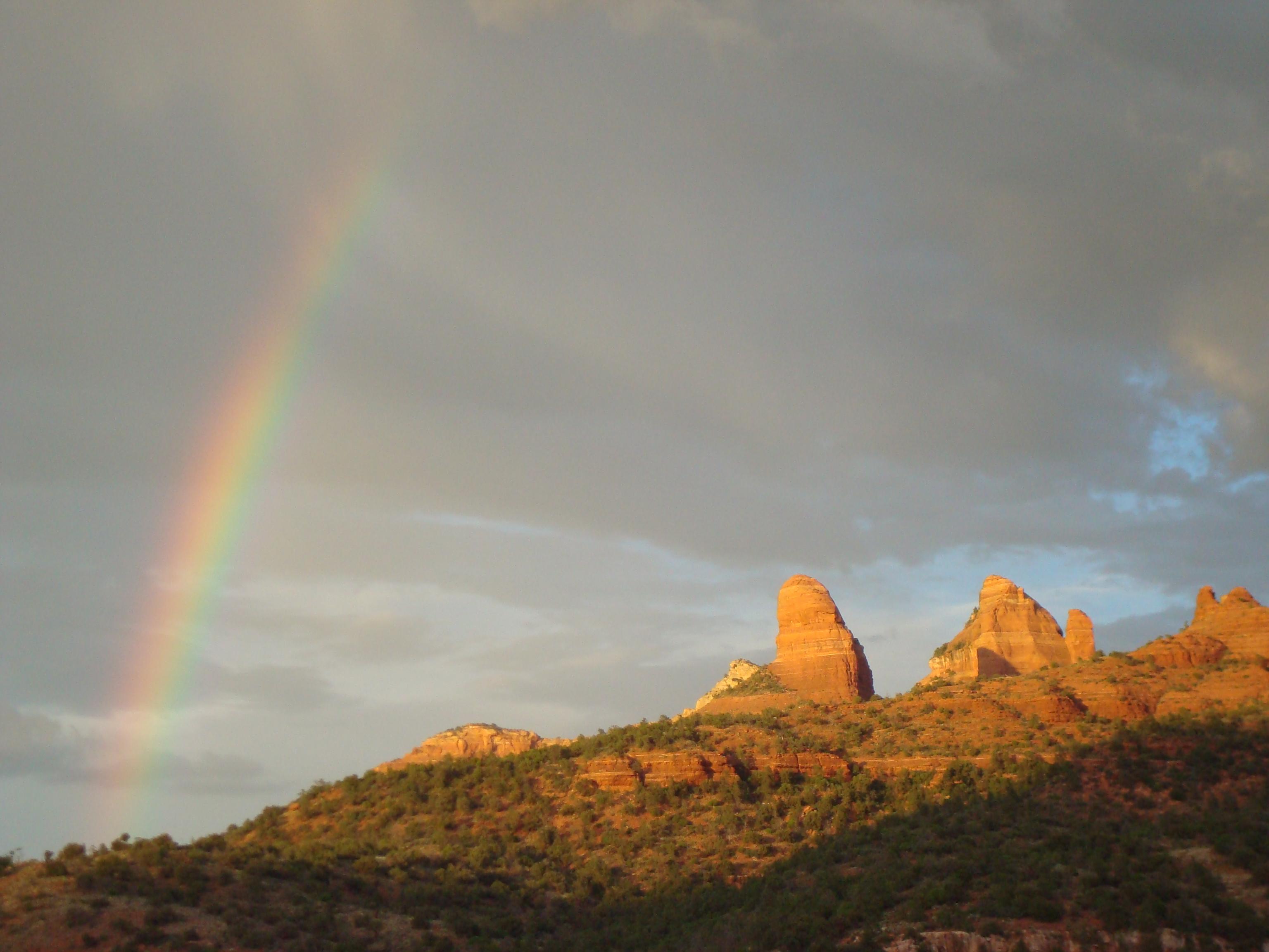 Sedona and the rainbow
