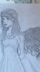 Just a doodle from way back in 2006. Mediums: pencils on paper