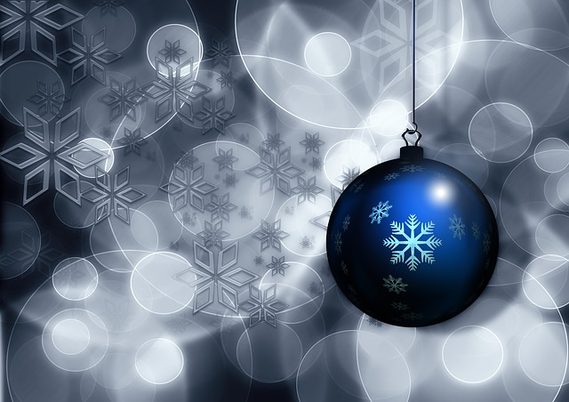 Christmas Holiday Ornament Blue Image: Public Domain, Morguefile