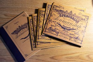 The Spencerian Script workbooks my brother Hyrum gave me last Christmas.
