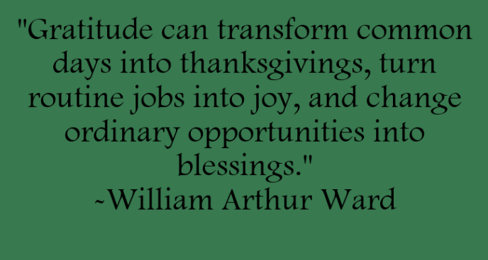 Gratitude can transform common days into thanksgivings, turn routine jobs into joy, and change ordinary opportunities into blessings. Quote by William Arthur Ward