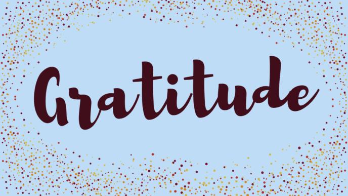 Gratitude - Image Created on Canva