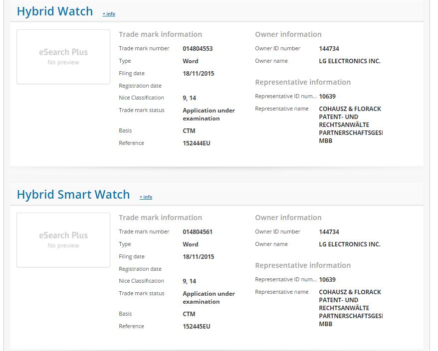 LG Hybrid Watch