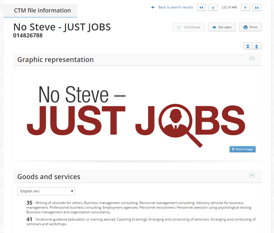 No Steve Just Jobs