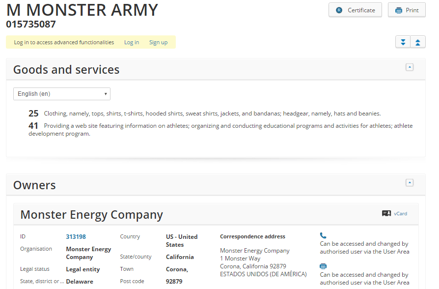 Monster Army Trademark 2