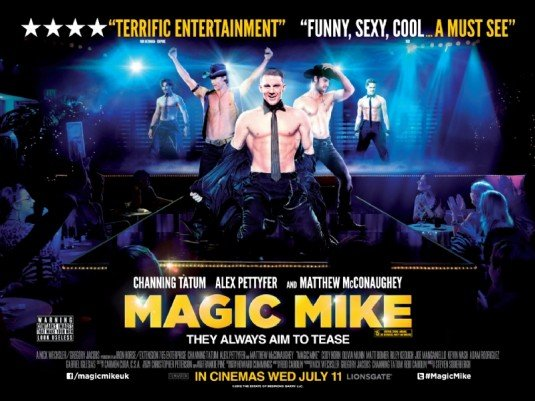 Magic Mike Trademarks filed in the UK