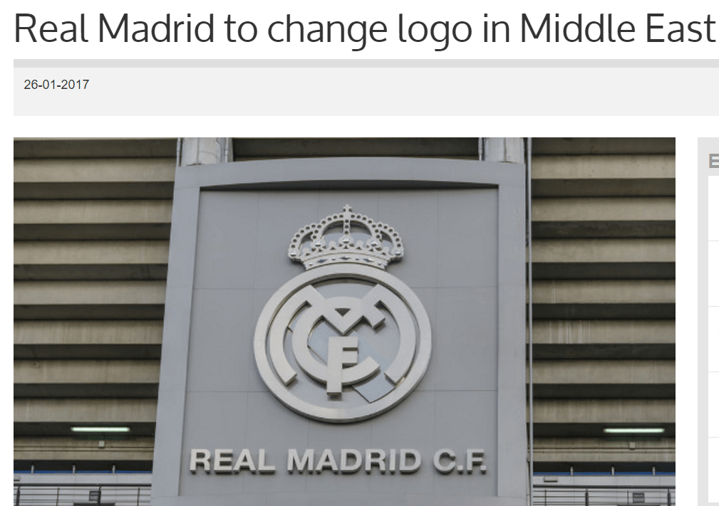 Real Madrid To Change Logo In Middle East #RealMadrid #Madrid #Logo #Trademark
