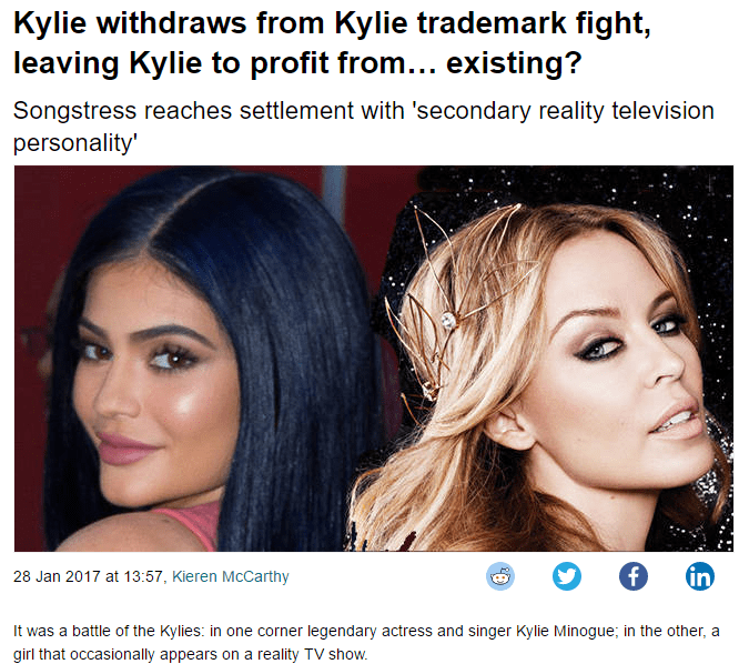 The Kylie Trademark War Is Over Apparently. #Kylie #Trademark #Minogue #Jenner