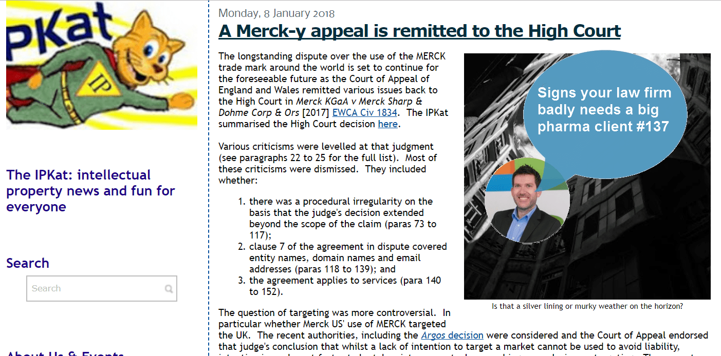 The Merck Appeal Is Here. For A Long Time. A VERY Long Time #Merck #TM #EUTM #Trademark