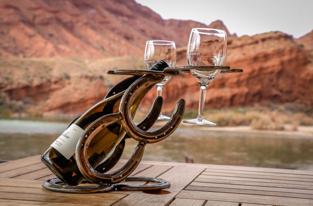 Tabletop Wine Rack with Glass Holders