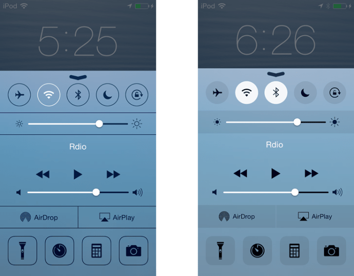 iOS 7 vs 8