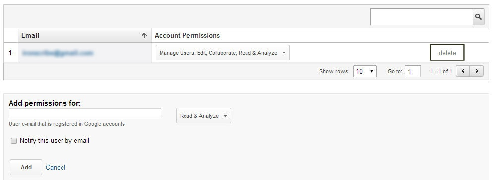 Removing yourself from a Google Analytics property