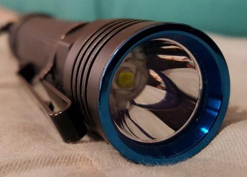 Olight S30R Baton III Bezel shot