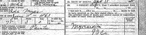 Death certificate for my great grandfather, James Coleman Buckley Sr.