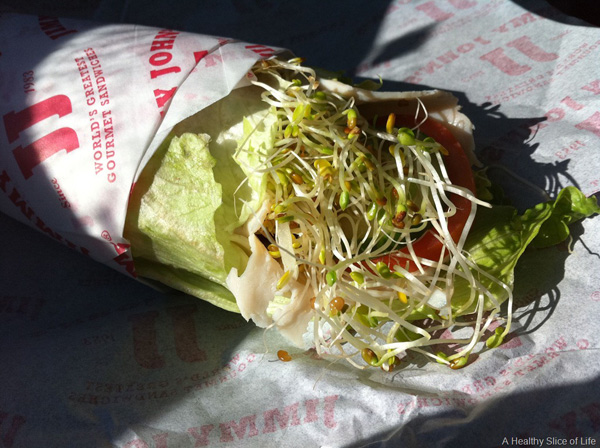 jimmy john's healthy unwich