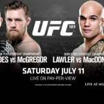 Rory McDonald is a -175 'chalk' vs. Robbie Lawler in the UFC 189 co-main event.