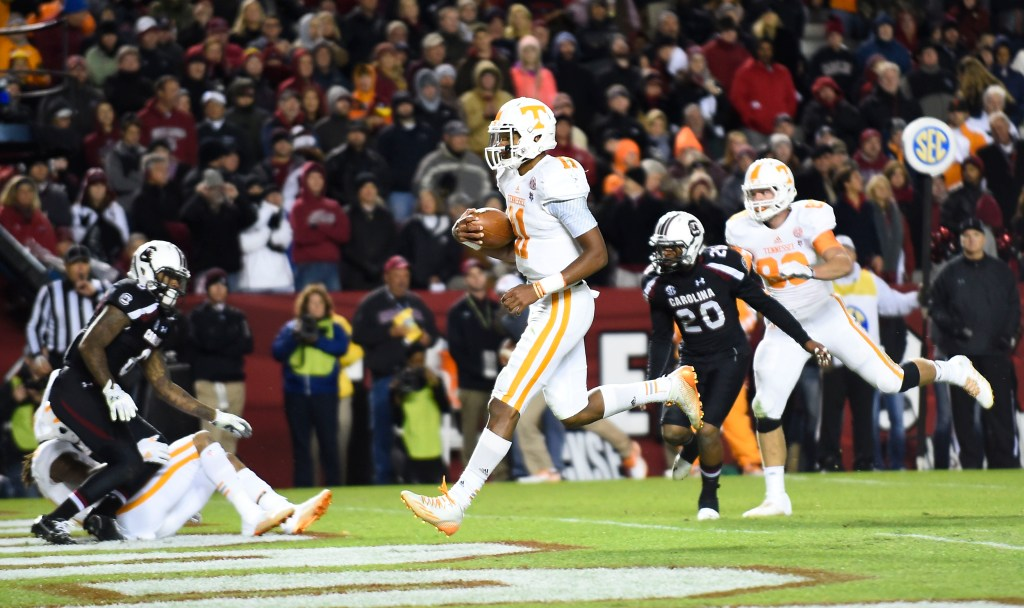 Tennessee QB Josh Dobbs had a 15/5 TD-INT ratio and 11 rushing touchdowns in 2015.