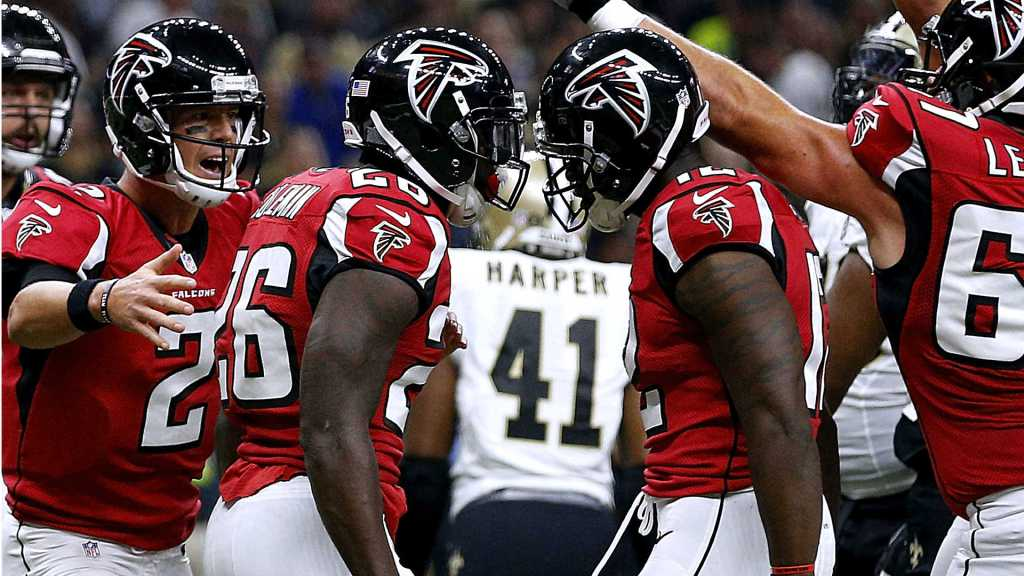 The Falcons have won back-to-back road games as underdogs to take sole possession of first place in the NFC South.