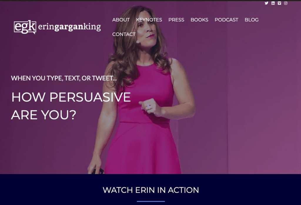 Professional Keynote Speaker Erin King Website