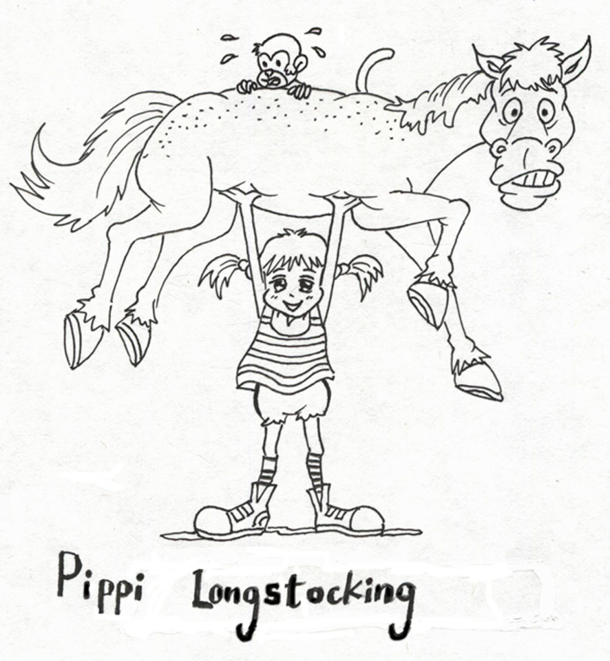 Free pipi longstocking coloring pages