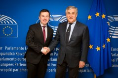 Antonio TAJANI - EP President meets with Vice-president Mairead McGUINNESS