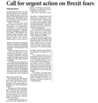 170317 Call for Urgent Action on Brexit Fears