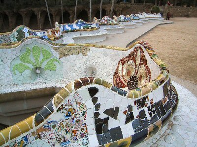 Antoni Gaudi\'s Park Guell Bench