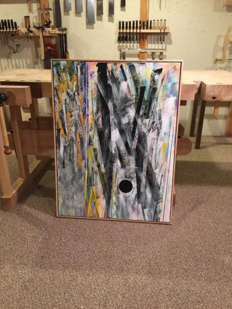 Frank X smith Art Work floater frame