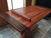 cantilever side table bubinga macassar ebony